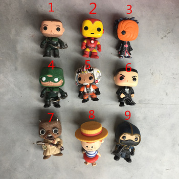 Funko POP Imperfect Arrow Green, Iron Man, Tobi, Star Wars, Freddy, Assassin Action Figure Collectible Model Loose Toy No box