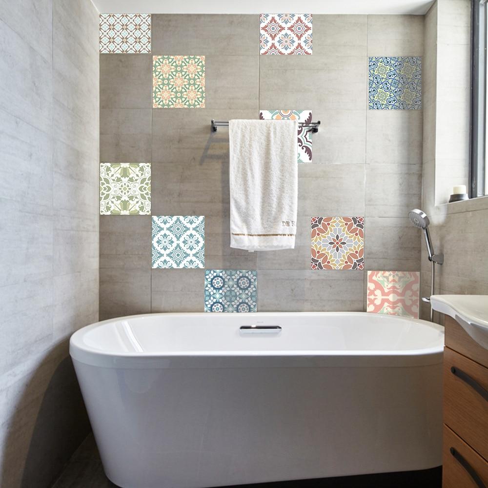 Funlife Mediterranean Retro Tile Stickers,Waterproof Self adhesive ...