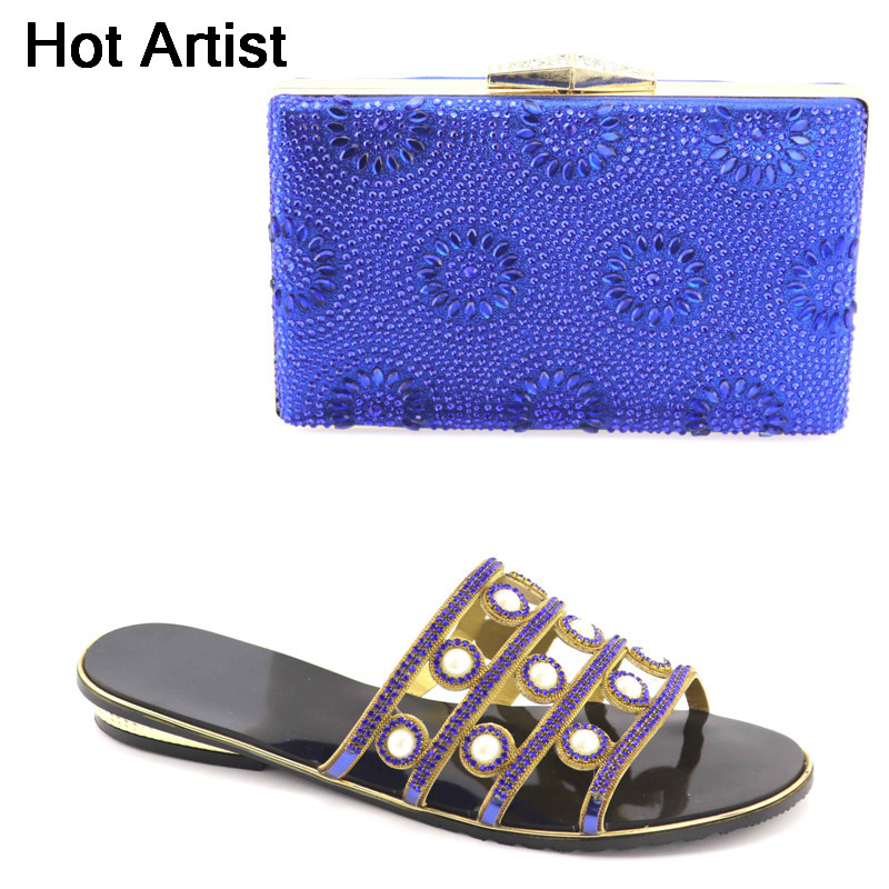Hot Artist Italian Design Shoes And Bag To Matching Bag Set For Party Nigerian Women Low Heels Shoes And Bag Set YK-013 italian shoes with matching bag new design african pumps shoe heels fashion shoes and bag set to matching for party gf25