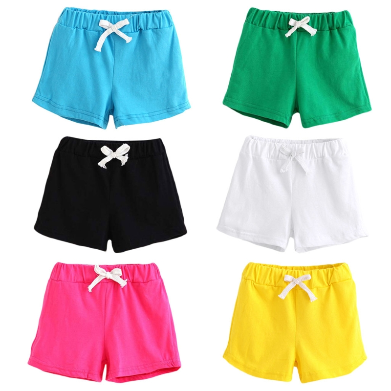 Unisex summer kids cotton shorts boys girls boys shorts Children cotton candy clothing brand Solid shorts baby clothing Fashion