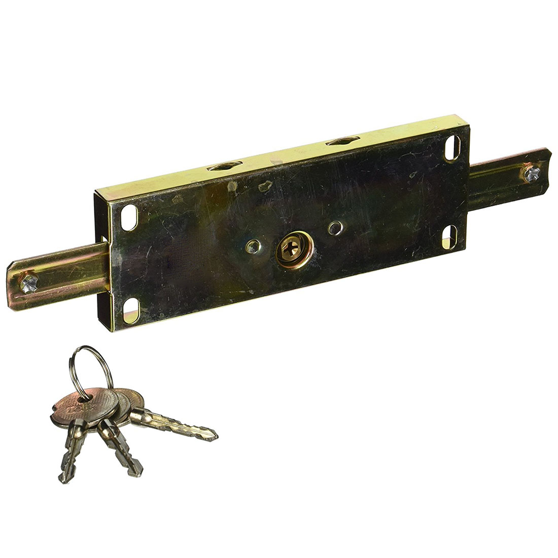 Gold tone Cross Key Metal Center Rolling Shutter Door Lock for Garage key selector ks06 for rolling shutter key switch for garage door