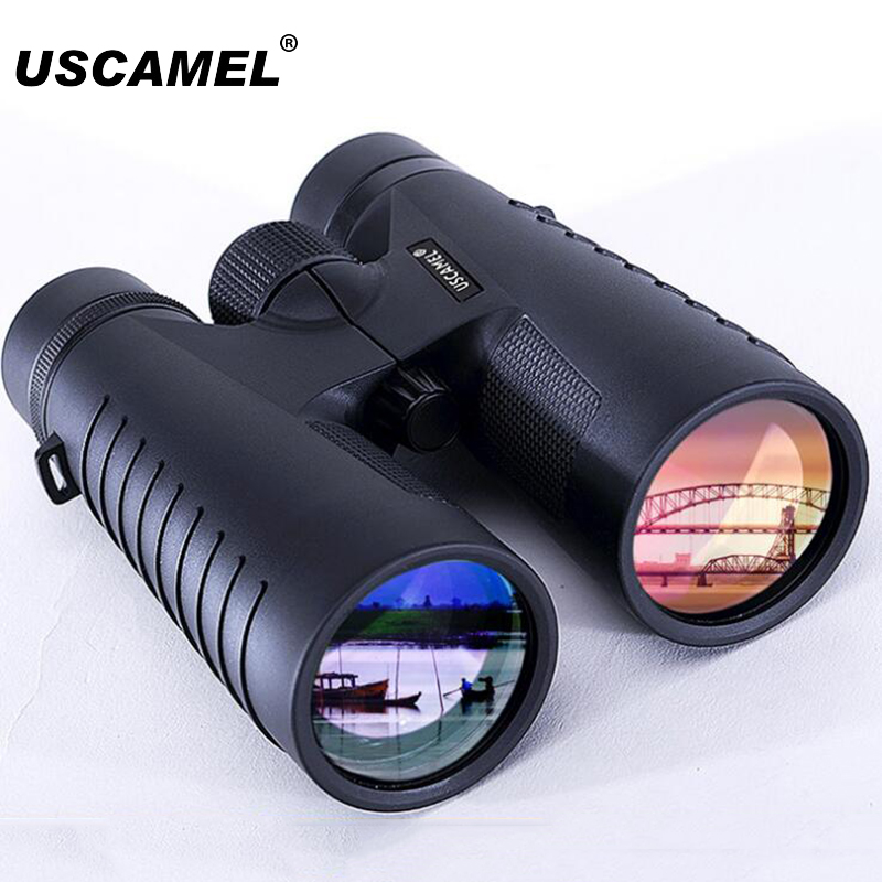 USCAMEL 12X50 Binoculars ED Professional Hunting Night Vision Binocular Waterproof Telescope Bak4 Prism Optics Camping Hunting