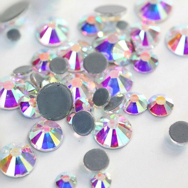 2028 SS4 To SS40 Best-Quality Crystal AB Glass Hot Fix Rhinestones Flatback  Clear Hotfix d9f09032371e
