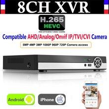 Upgrade 8CH 5MP H.265 Super CCTV XVR AHD NVR DVR Digital Video Recorder for AHD CVI TVI Analog IP Surveillance Security Camera