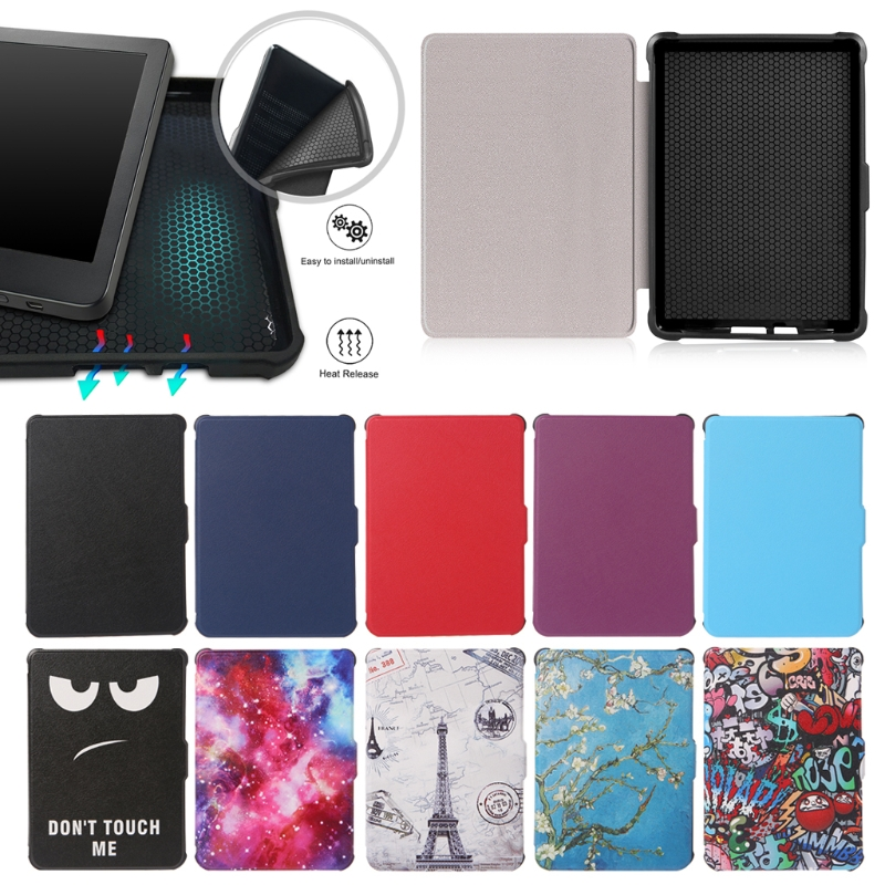 For Kobo Clara Clear HD Ultra Slim Smart Cover TPU Leather Protective Cases Sep-27B