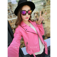 Women Fashion Zipper Leather Jacket Full De Cuero Mujer Real 2017 Spring New Self cultivation Lapel Motorcycle Pu Female