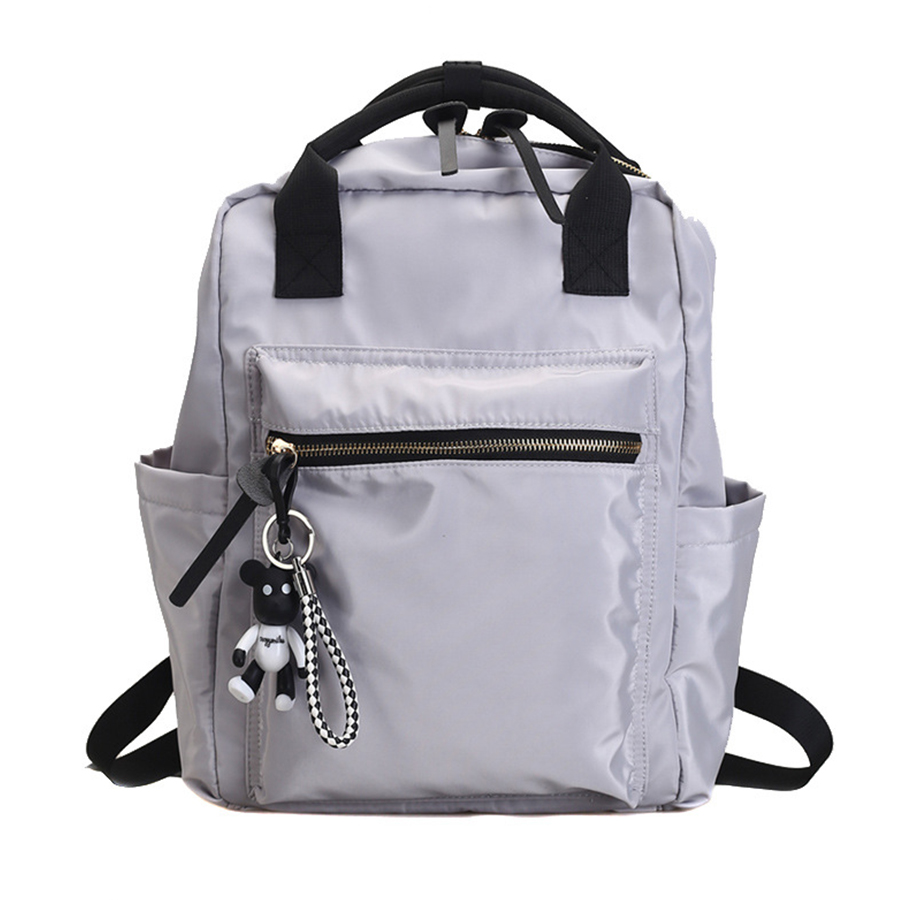 Casual Nylon Backpack Women Large Capacity School Bag Teenager Mochila Bolsa Solid Color Girls Travel Bags Students 2019 SummerCasual Nylon Backpack Women Large Capacity School Bag Teenager Mochila Bolsa Solid Color Girls Travel Bags Students 2019 Summer