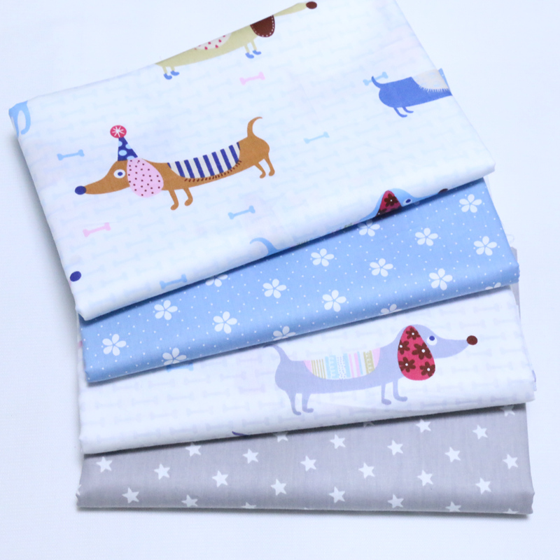 160*50CM animal Cotton Fabric Patchwork Baby infant doll cloth Sewing tissue
