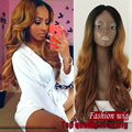 2016 Hiar fantasy Heat Hesistant ombre color wig wavy  high temperature Synthetic hair fiber Glueless full Lace Front wigs
