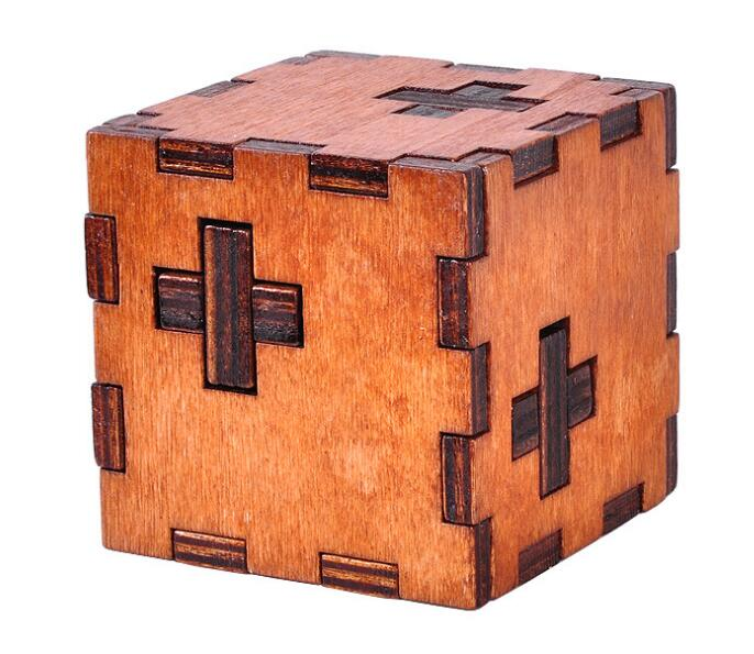 IQ Wooden Cube Puzzle Mind Brain Teaser Puzzles Game for Adults Kids(China  (Mainland