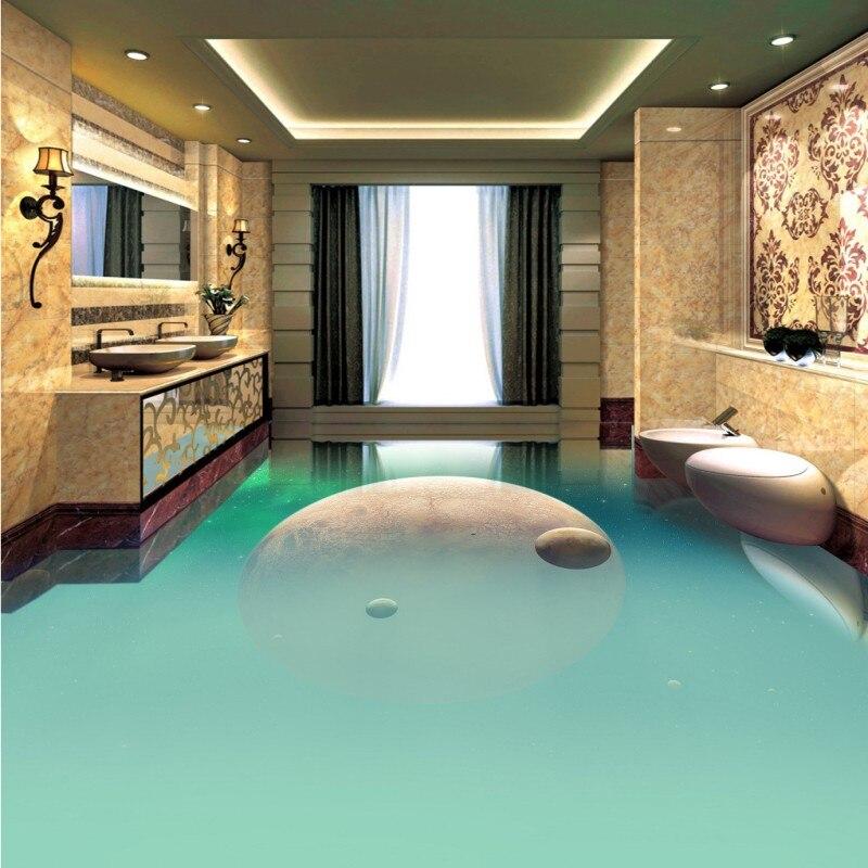 Бесплатная доставка Великолепная пространство планеты дорожки коридор прохода 3D стерео гостиная пол в ванной комнате обои росписи