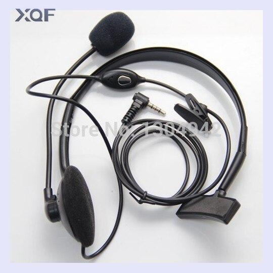 Overhead Earpiece Headset Boom Mic Microphone Noise Cancelling For Yaesu Vertex Radio 1pin 3.5mm