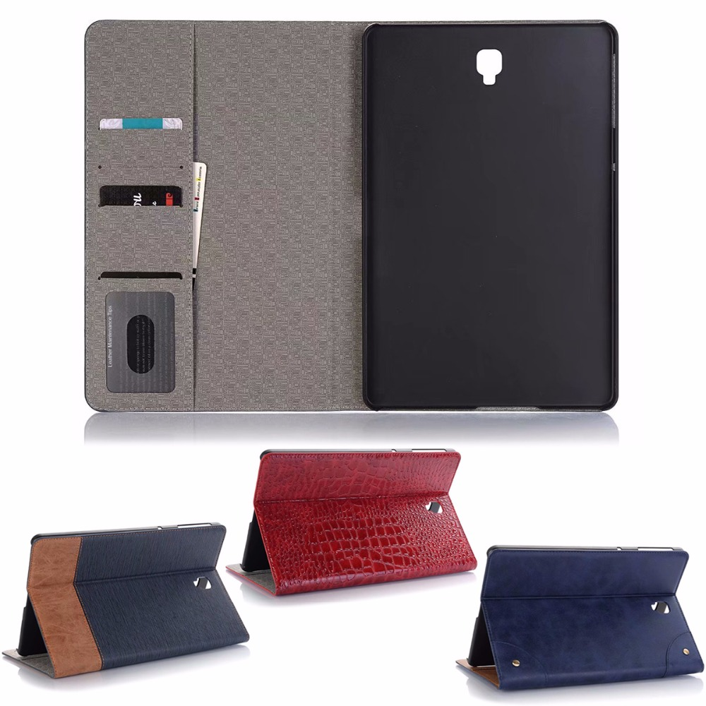 Business Leather Case For Samsung Galaxy Tab S4 10.5 Case T830 T835 Case Tablet Support stand Cover with Card Solt + Gift protective pu leather case w card slot strap for samsung galaxy s4 mini i9190
