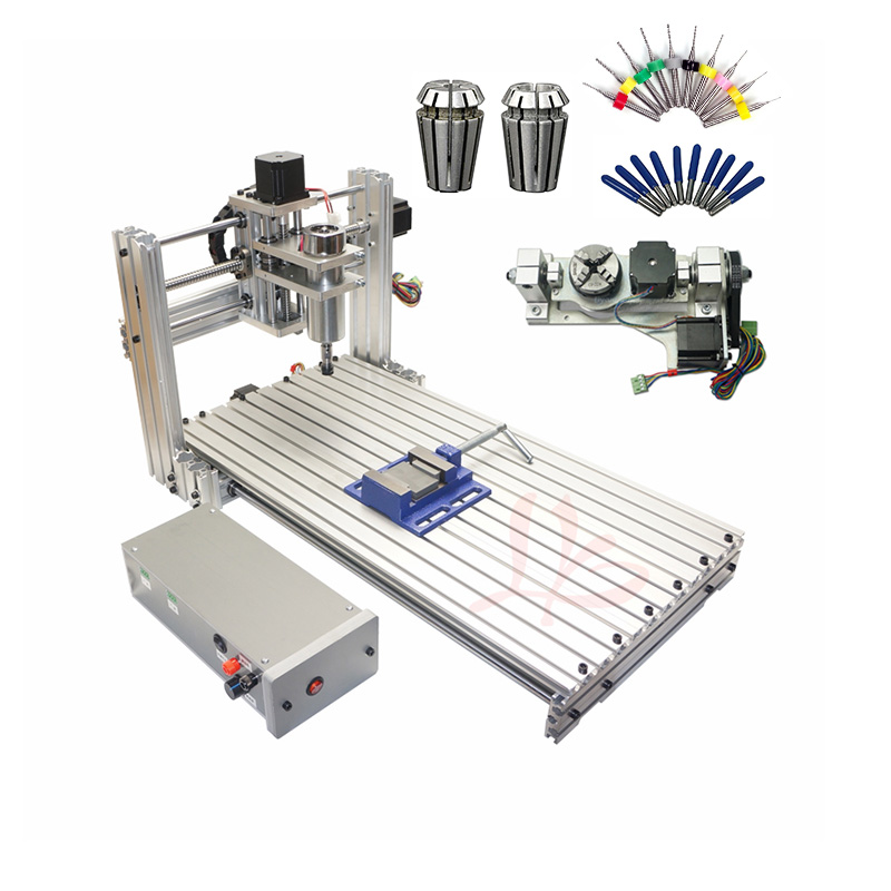 Mini DIY CNC 6020 Woodworking Router Machine 3 4 5 Axis CNC Frame With USB Port For Home Hobby DIY