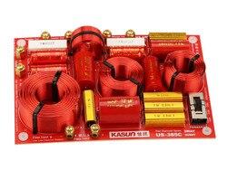 1 sztuka 3 Way 3 jednostka zwrotnica częstotliwości do głośnika filtry crossover 600Hz 4650Hz 230W 5-8 ohm wykonane przez kasun HongKong US-385C