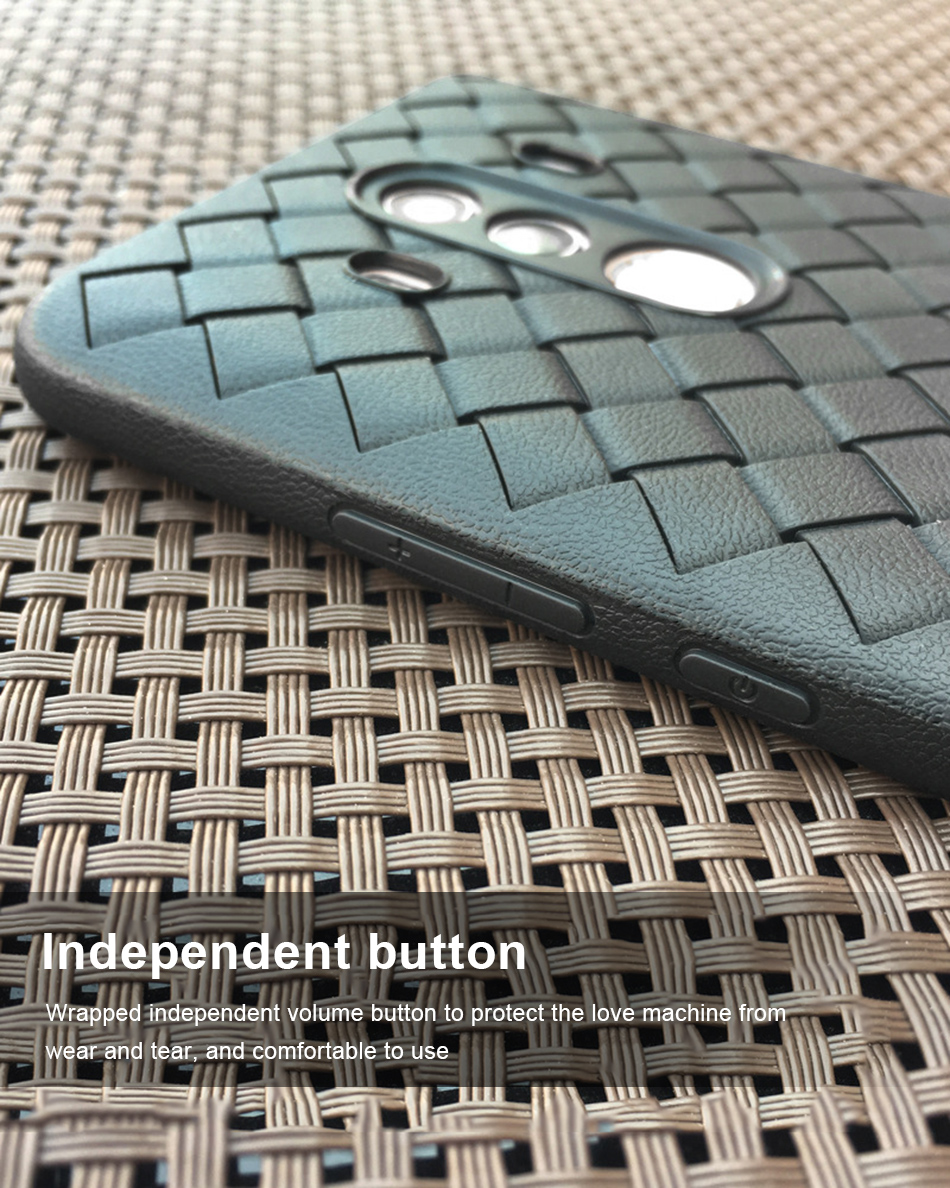 !ACCEZZ Luxury Soft TPU Ultra-thin Protective Back Cover Shell For Huawei Mate1010pro Phone Cases BV Weave Capa Fundas Coque (7)