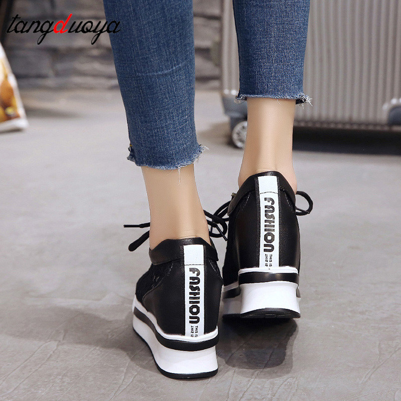 shoes woman platform sneakers casual shoes women 2019 wedges platform shoes for women chaussures femme autumn mesh breathable in Women 39 s Vulcanize Shoes from Shoes