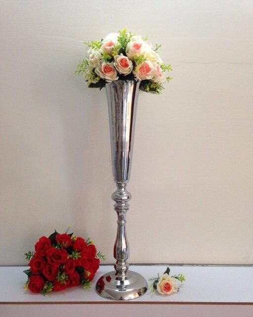 Aliexpress Buy Silver Flower Vase Table Centerpiece Wedding