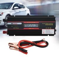6000W Car Inverter Power Black Universal Socket Modified Sine Wave LCD Display USB Indicator Lamp Transformer Aluminum Alloy