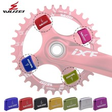 WUZEI 4 шт цепной болт Mountain велосипедная Звездочка украшения винты с ЧПУ 7075 MTB велосипеда дисковой винт для Запчасти для велосипеда