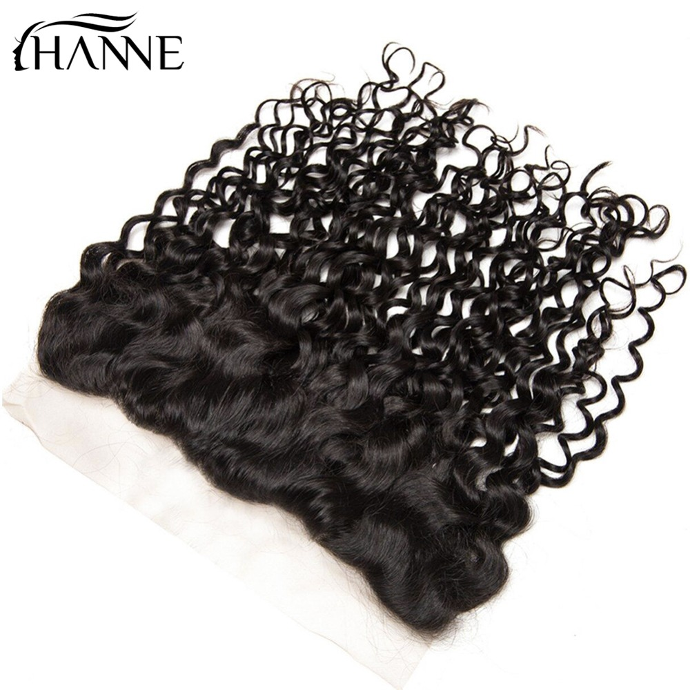 HANNE Hair 8A Grade Malaysian Natural Wave Free Part Lace Frontal Ear to Ear 13X4 Pre Plucked 100% Human Hair Free Part Non Remy