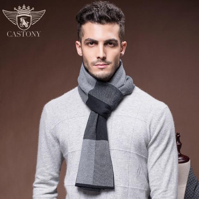 Los nuevos hombres de Invierno de Lana Bufanda de Moda de Invierno Para  Hombre de la 061d3de06f0