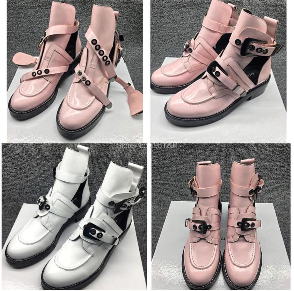 as Femmes Cheville Cuir Gladiateur 2019 Moto As Boot D'équitation Boucle Bootie Plat Picture Picture Noir En Véritable Chaussures Casual Bottes Marque The Découpe qZw70xwXn1
