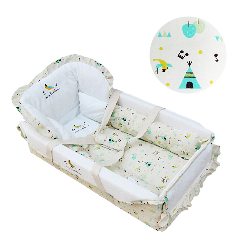 High quality crib infant carrier vehicle portable baby cradle bed export standard baby sleeping basket baby supplies high quality export baby bed folding portable travel bed 3 colors in stock hong kong free delivery without changing table