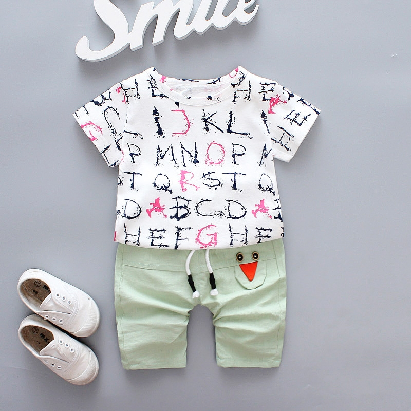 summer Clothing baby boy clothes suit T-shirt shorts Wear outside comfortable Casual 2018 Childrens Kids set 0-3Tkids clothes