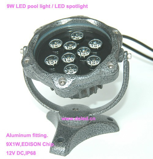 Free shipping by DHL !! CE,IP68,9W LED pool light,LED underwater light,12VDC,DS-10-57-9W,Aluminum,good quality 2-Year warranty 2 years warranty 18w ac12v led underwater wall mounted swimming pool light ip68 2 pcs free shipping high quality