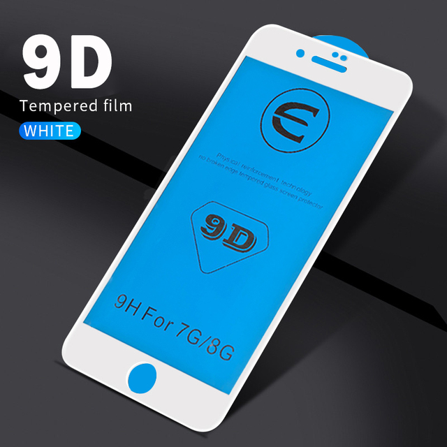 Anti-fingerprint 9D Protective Glass on the For iPhone 6 Screen Protector iPhone 7 Glass For iPhone 8 7 6s Plus X Tempered glass