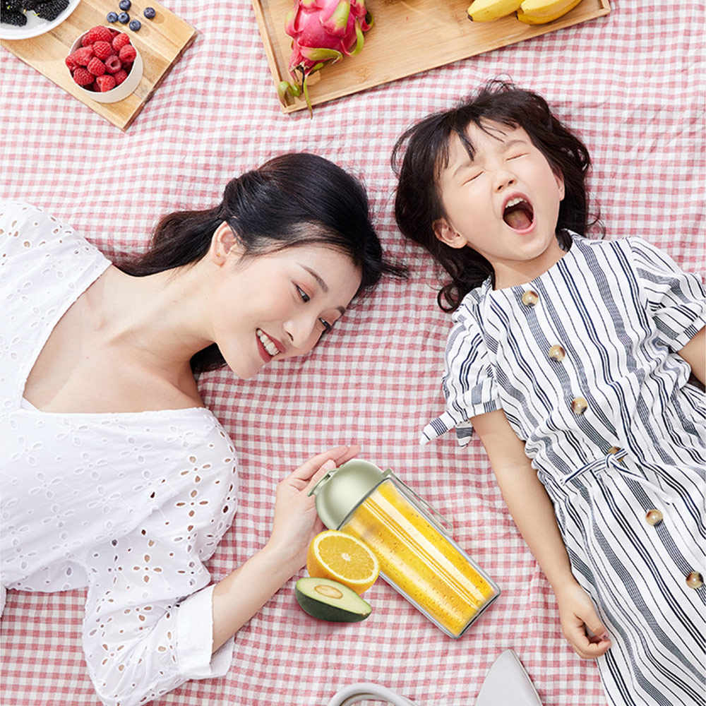 Xiaomi Deerma 500 ML Liquidificador Espremedor Elétrico Portátil Xícara De Suco Misturador Automático Multi-Funcional USB Recarregável Para O Bebê Meninas