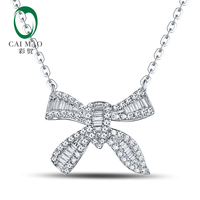 Free Shipping 0 365ct Round Cut Diamonds 14kt White Gold Pendant For Necklace