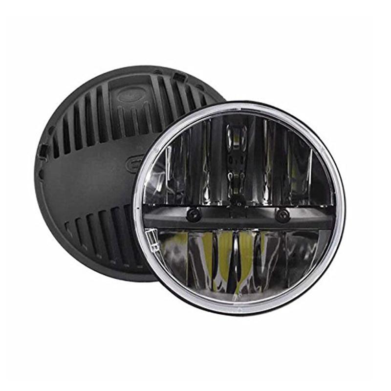 Sepasang 7 inch Hitam Putaran LED Headlight Dengan Tinggi / Rendah - Lampu mobil - Foto 2