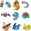 17 Tipos LNO Mini Bloques Bloques de Construcción de Juguetes Bulbasaur Pokemon Ir Golbat Assemblage Juguetes Pokemon 3D Subasta 084-112