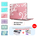 Lace + Pink Background Frosted Protective Case For Macbook Air Pro 11 13 15 Retina 13 Case For Mac book Pro 13 15 Retina Case
