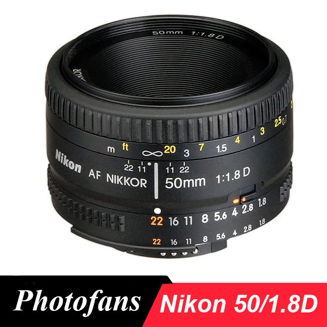 Nikon 50mm <font><b>Lens</b></font> AF <font><b>50</b></font> / 1.8D <font><b>Lenses</b></font> for Nikon D90 D7100 D7200 D7500 D500 D610 D750 D810 D850 Dslr Camera <font><b>Lens</b></font> image