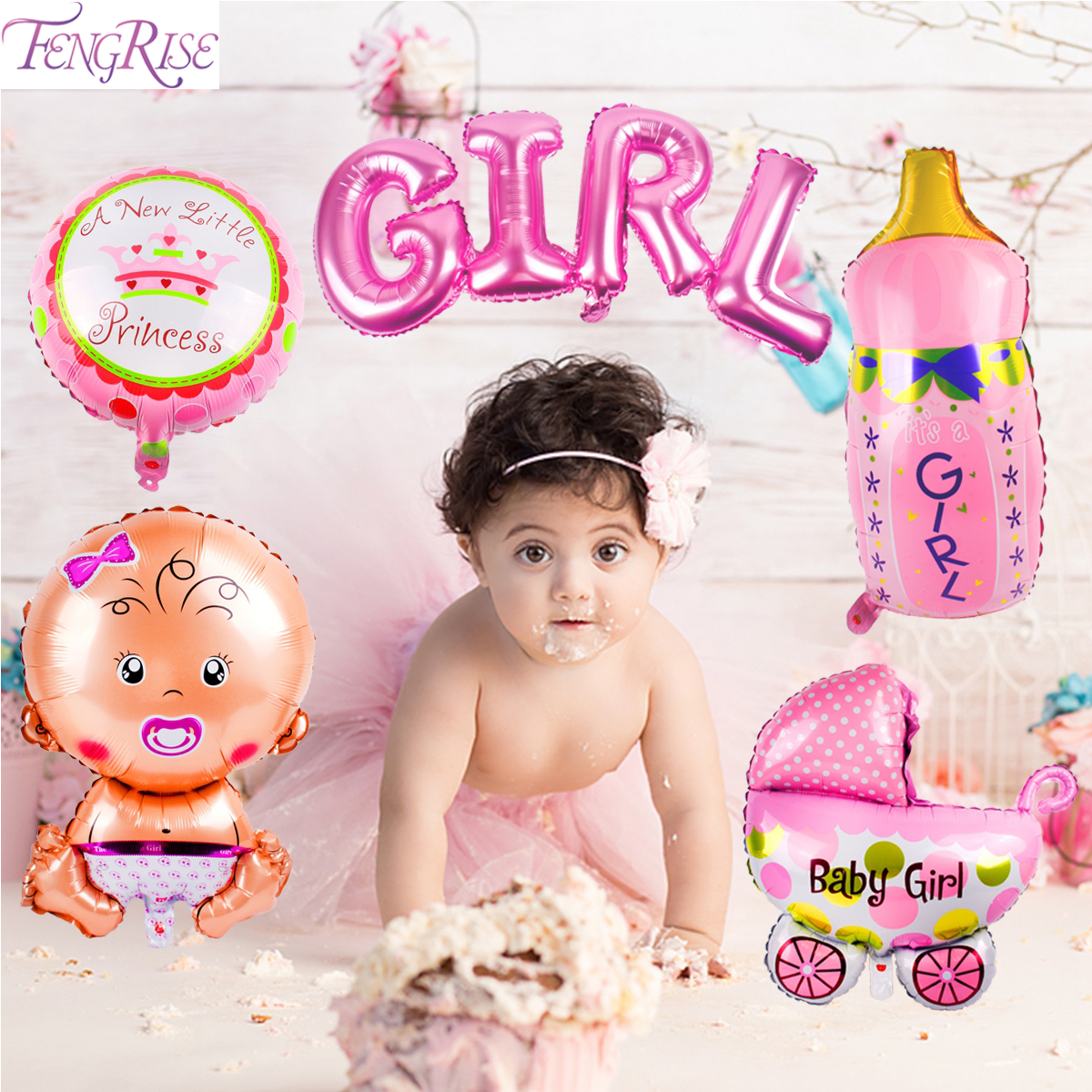 Balloon Decoration For Baby Shower Girl