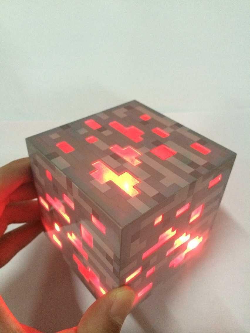 Mycraft Light Up Redstone Bluestone Ore Square Toys Night Light LED Action Figure Toys Light Up Diamond Ore Kids Gifts Toys