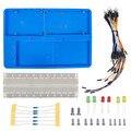 SunFounder Kit Titular com 830 Pontos Solderless Circuito RAB com Fios Jumper Placa de Ensaio LED Resistores para Arduino Uno R3 Mega