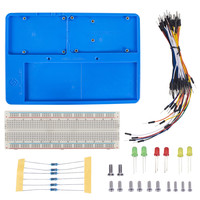 SunFounder RAB Holder Kit With 830 Points Solderless Circuit With Breadboard Jumper Wires LED Resistors For
