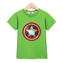 ef5d343dbb Fashion Distress shield t-shirt kids USA captain casual clothing baby boys  short sleeve summer