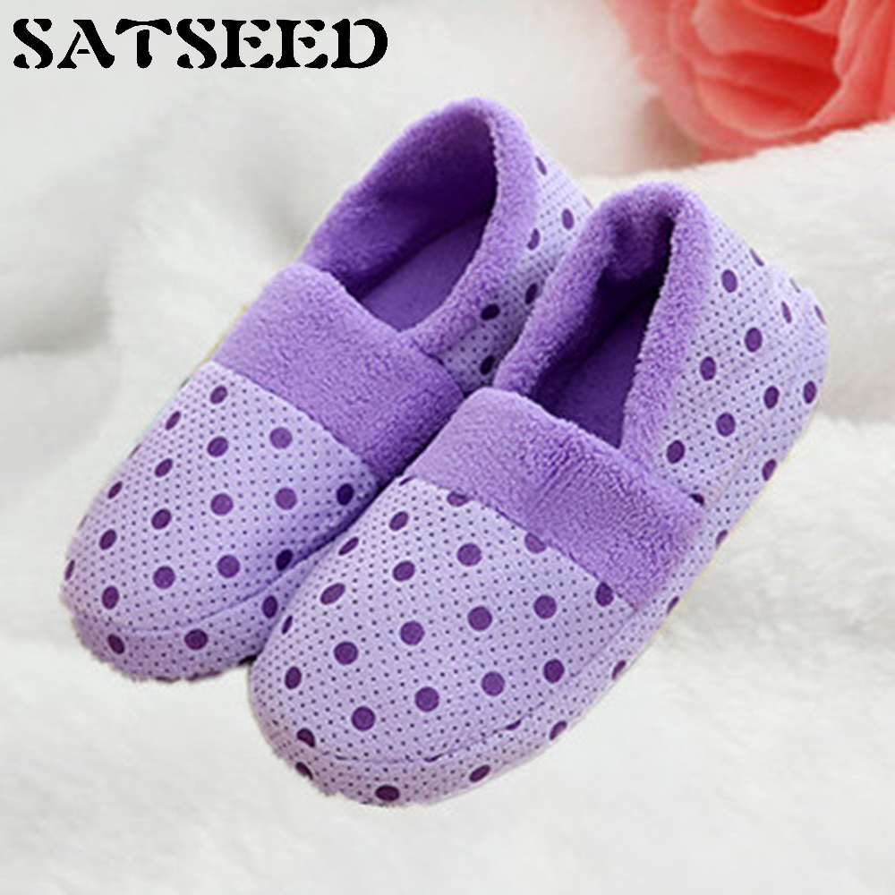 Pregnant Women Shoes Autumn Slippers Winter Soft Bottom Shoes Non-slip Home Slippers Warm Cotton Slippers Indoor Shoes Polka Dot men winter soft slippers plush male home shoes indoor man warm slippers shoes