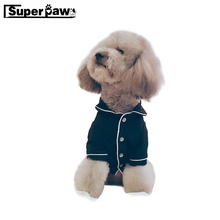 Fashion Dog Jumpsuits Pajamas Puppy Soft Sleepwear French Pet Clothes Teddy Schnauzer Small Dogs Clothing Pets Overalls BNC04