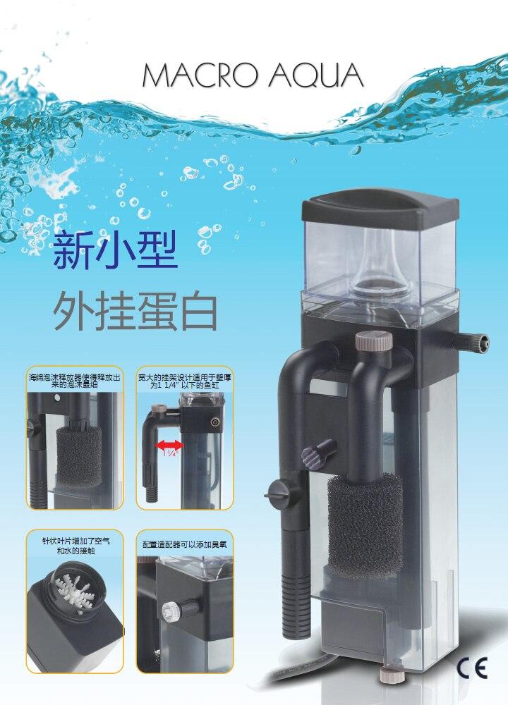 Marco Aqua acuario marino peces tanque de Coral Nano colgante de proteína Skimmer para tanque marino-in Filtros y accesorios from Hogar y Mascotas    1
