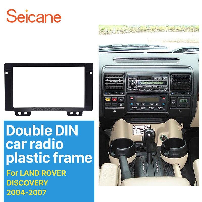 Seicane 2 Din Car Radio GPS Stereo Panel Fascia for 2004 2005 2006 2007 Land Rover Discovery Dash CD Trim Install Audio Frame
