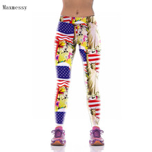 Maxmessy Women Yoga Leggings Fitness Pants Printed Stretch Sports Fitness Leggings Running Workout Sportswear Trousers
