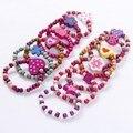 Вечерние детские браслеты для девочек, 12 шт.