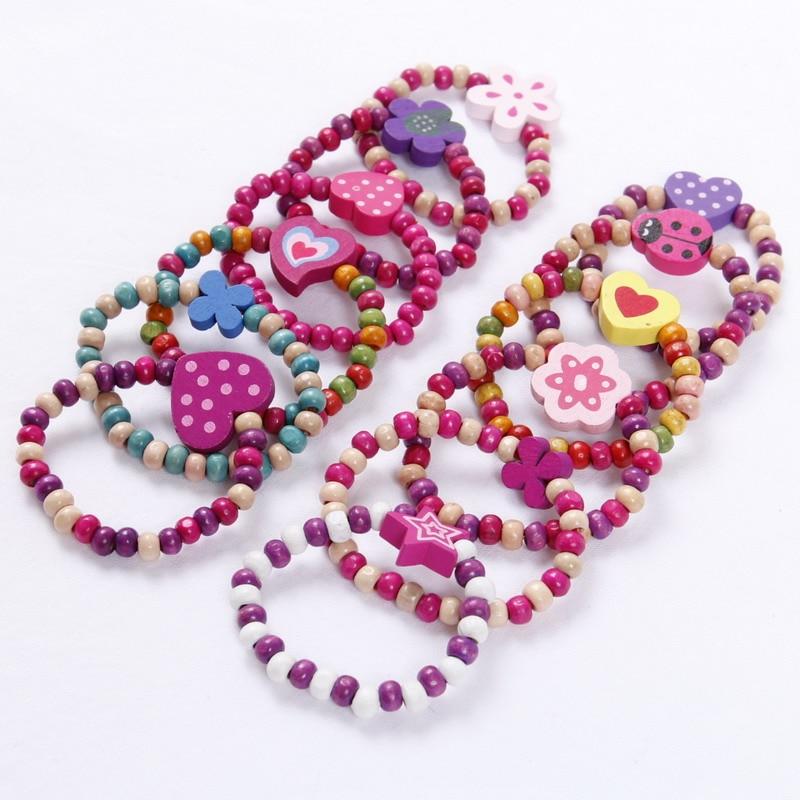 12 шт., вечерняя сумка принцессы для девочек, детские браслеты, подарки, ювелирные изделия