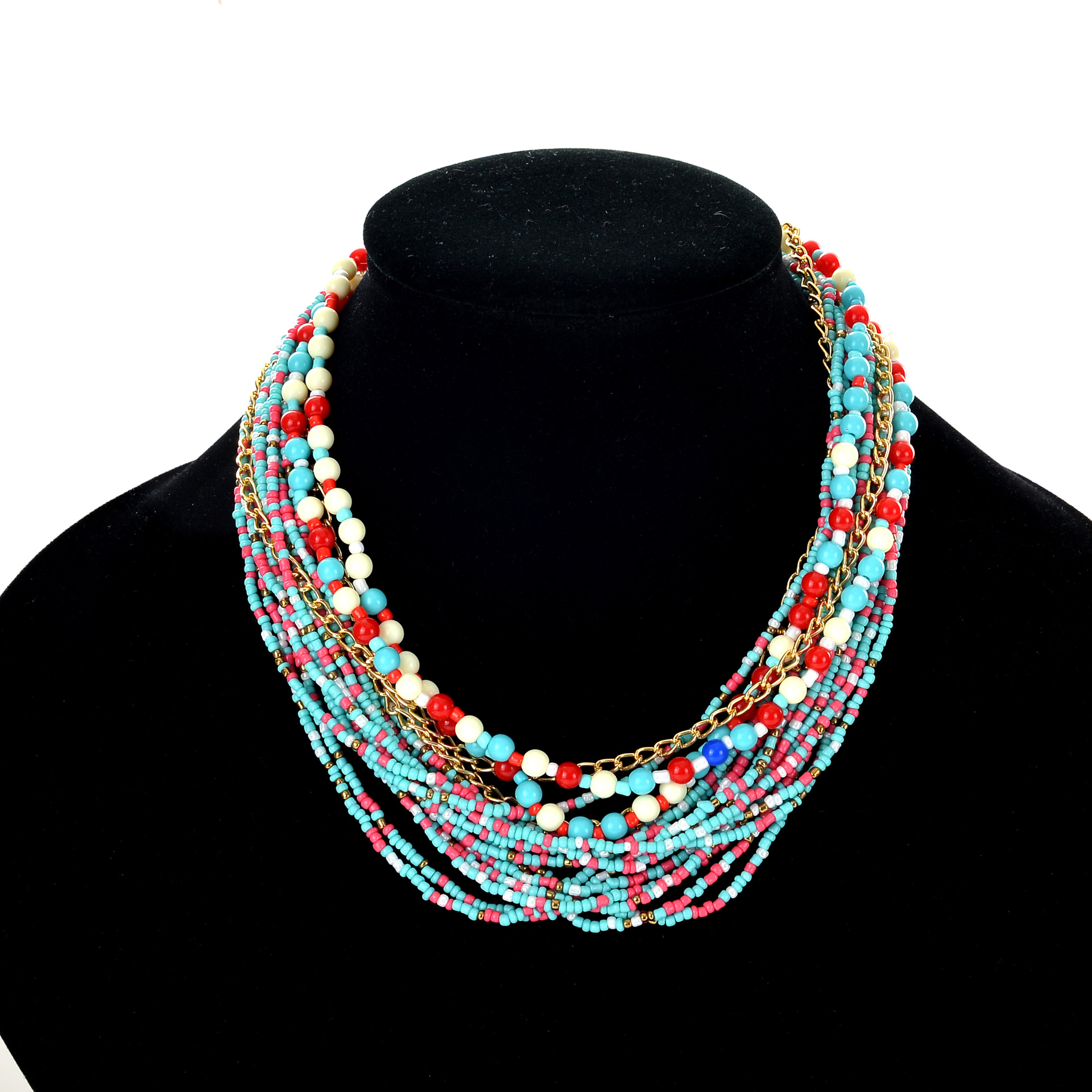 Colsen Fashion European And American Style Jewelry Women Elegant Handmade Beaded Necklace